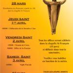 Rameaux et Semaine Sainte